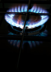 Gas hob - cook with blue flame