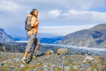 Woman tourist, Iceland