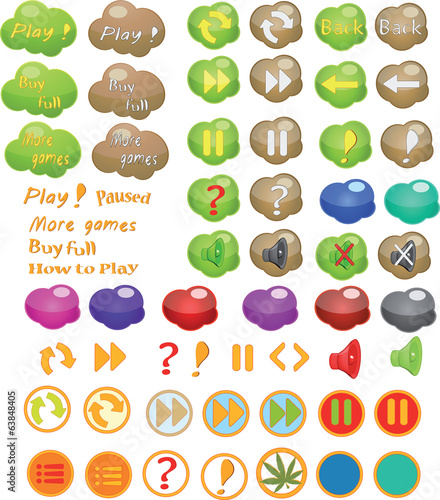 Set of icons for a computer game