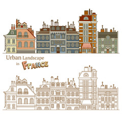 Design of Urban Landscape and Typical French Architecture