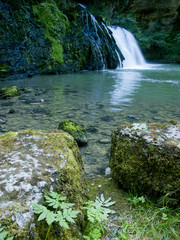 The Lison's source waterfall in Doubs, France