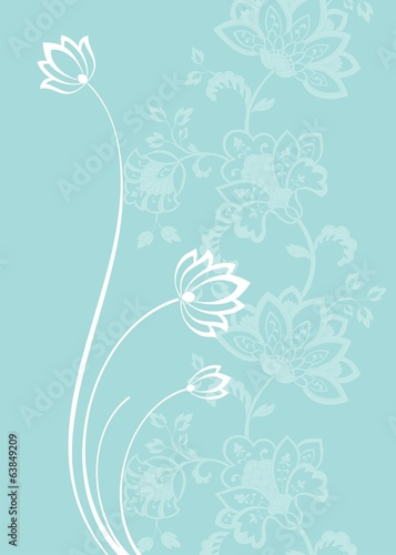 water lilies, wedding card design, India