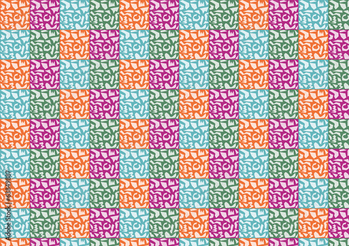 Abstract Polygon Pattern on Colorful Background