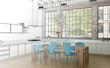 Entwurf moderne Wohnküche