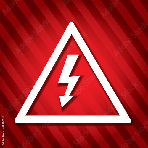Electricity danger sign