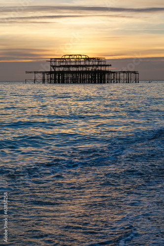 Old pier in Brighton , England.