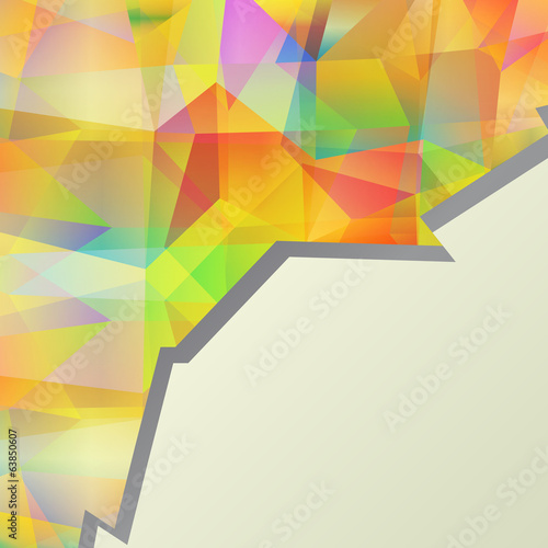 Colorful abstract design template vector background concept