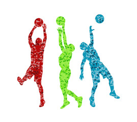 Man basketball vector background silhouette vector abstract back