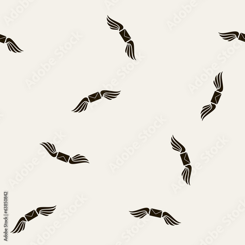seamless background, wing, angel, envelope