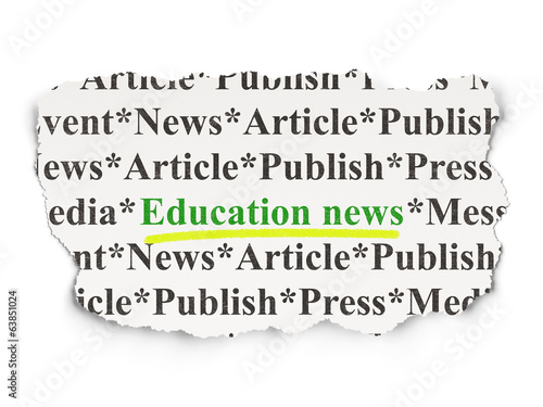 News concept: Education News on Paper background