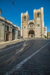 "View of Lisbon cathedral "" igreja da sé"""