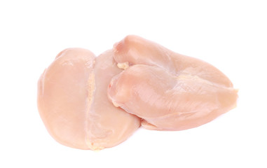 Raw chicken fillets.