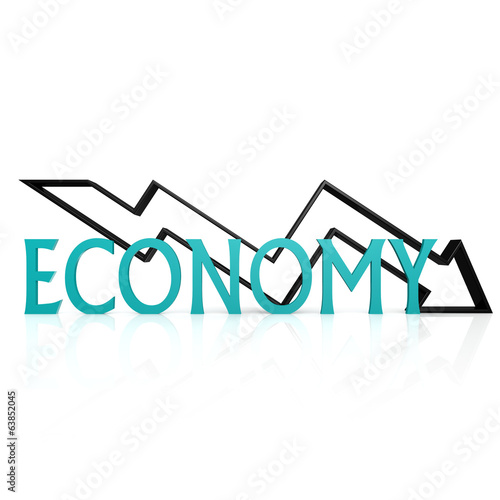 Economy down arrow