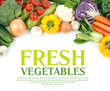 Vegetables close-up with space for text. - 63852219