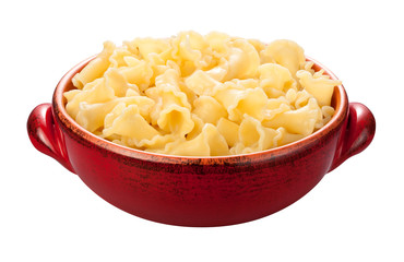 Campanelle Pasta Bowl isolated