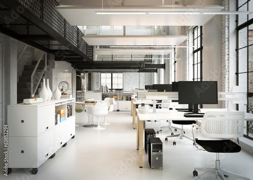 Leinwanddruck Bild Loftbüro - downtown loft office agency