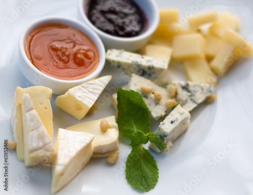 Various sorts of cheese