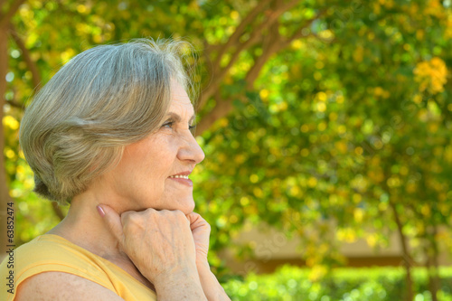 Senior woman on a walk