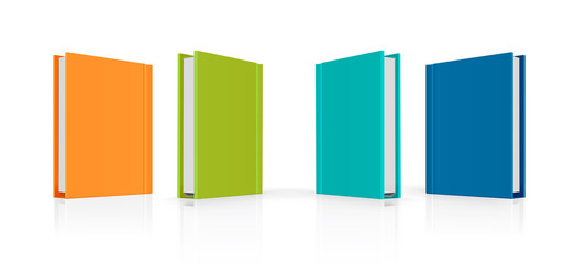 Set of colorful vector books