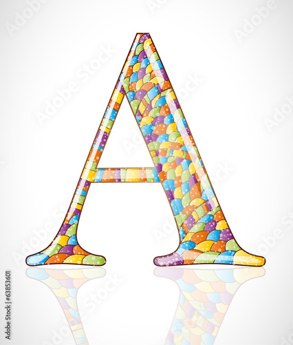 Abstract letter A. Illustration 10 version