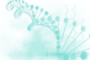 Blue medical background with dna