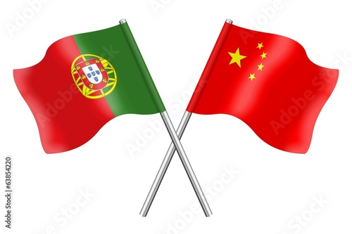 Flags: China and Portugal