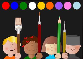 colori e bambini