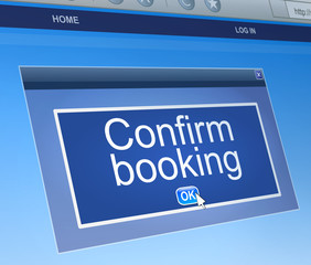 Confirm booking concept.