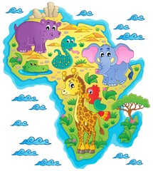 Africa map theme image 1