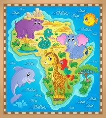 Africa map theme image 2