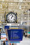 Clock at Waterloo train station, London