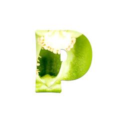 fruits and vegetables - letter
