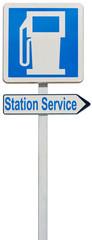 panneau indicateur de station service