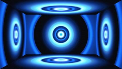 Light Circles Box Blue