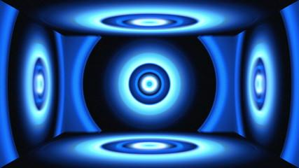 Light Circles Box Blue
