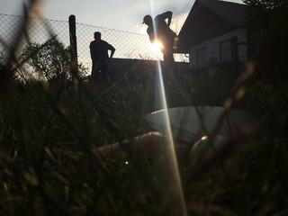 Tischtennis in der Sonne