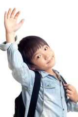 Happy school kid