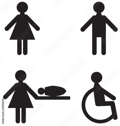 Icons for restroom