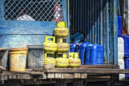 Gas yellow tanks in indonesia