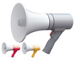 Megaphone set. Isolated. Vector illustration