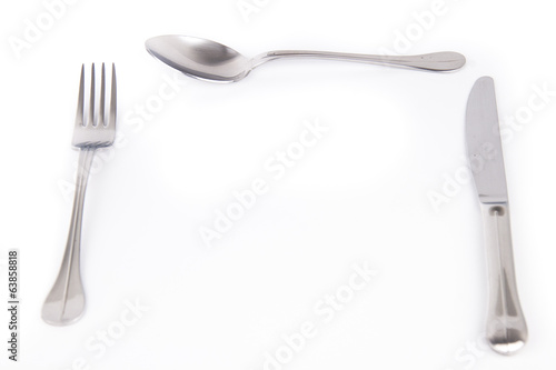 cutlery isolated on white background