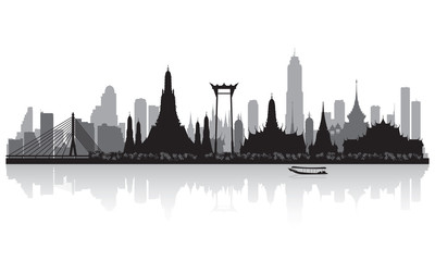Bangkok Thailand city skyline silhouette