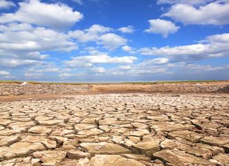 Drought blue sky