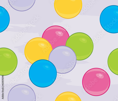 Colored balls on the abstract background
