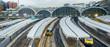 Train leaves Paddington railway station in London, UK, panorama - 63859473
