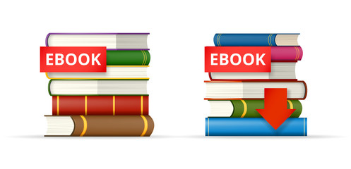 EBOOK books stacks  icons