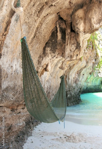 A hammock at the beautiful beach in Thailand