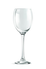 Wine glass, vector