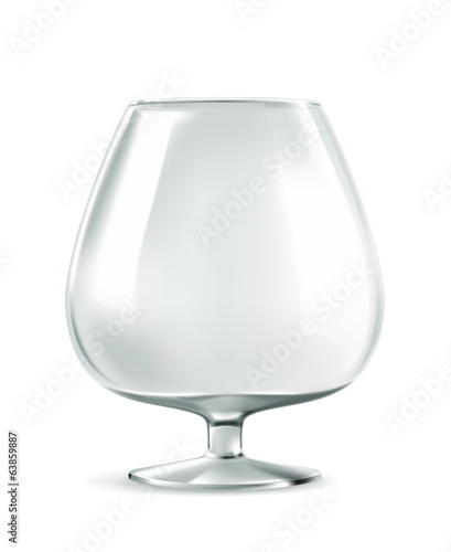 Cognac glass, vector