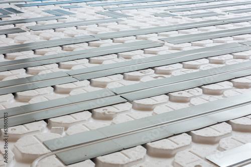 Leinwanddruck Bild Fußbodenheizung